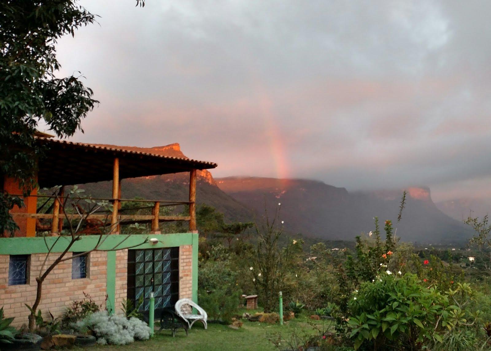 Dias de chuva com arco iris