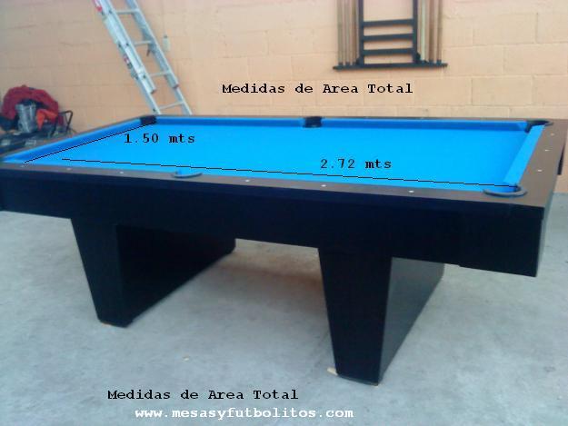 Mesas de billar - Medidas mesa billar ...