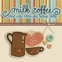 Milk Coffee Digital Stamps