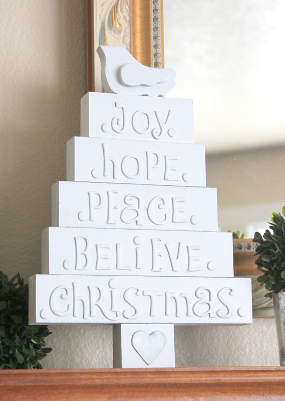 crafty sisters wood christmas tree with letters With wooden letters for christmas tree