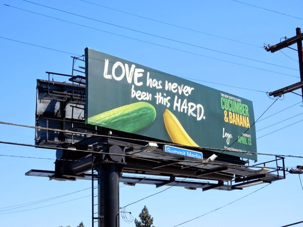 Love has never been this hard Cucumber Banana TV billboard