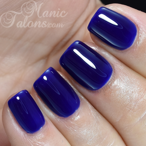 Madam Glam Gel Polish Electric Blue Swatch