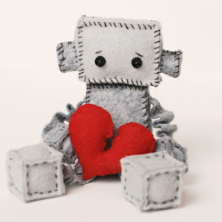 Robot Plush with a Broken Heart