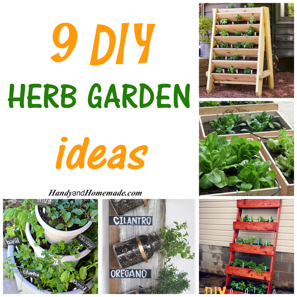 Attrayant 9 DIY Herb Garden Ideas