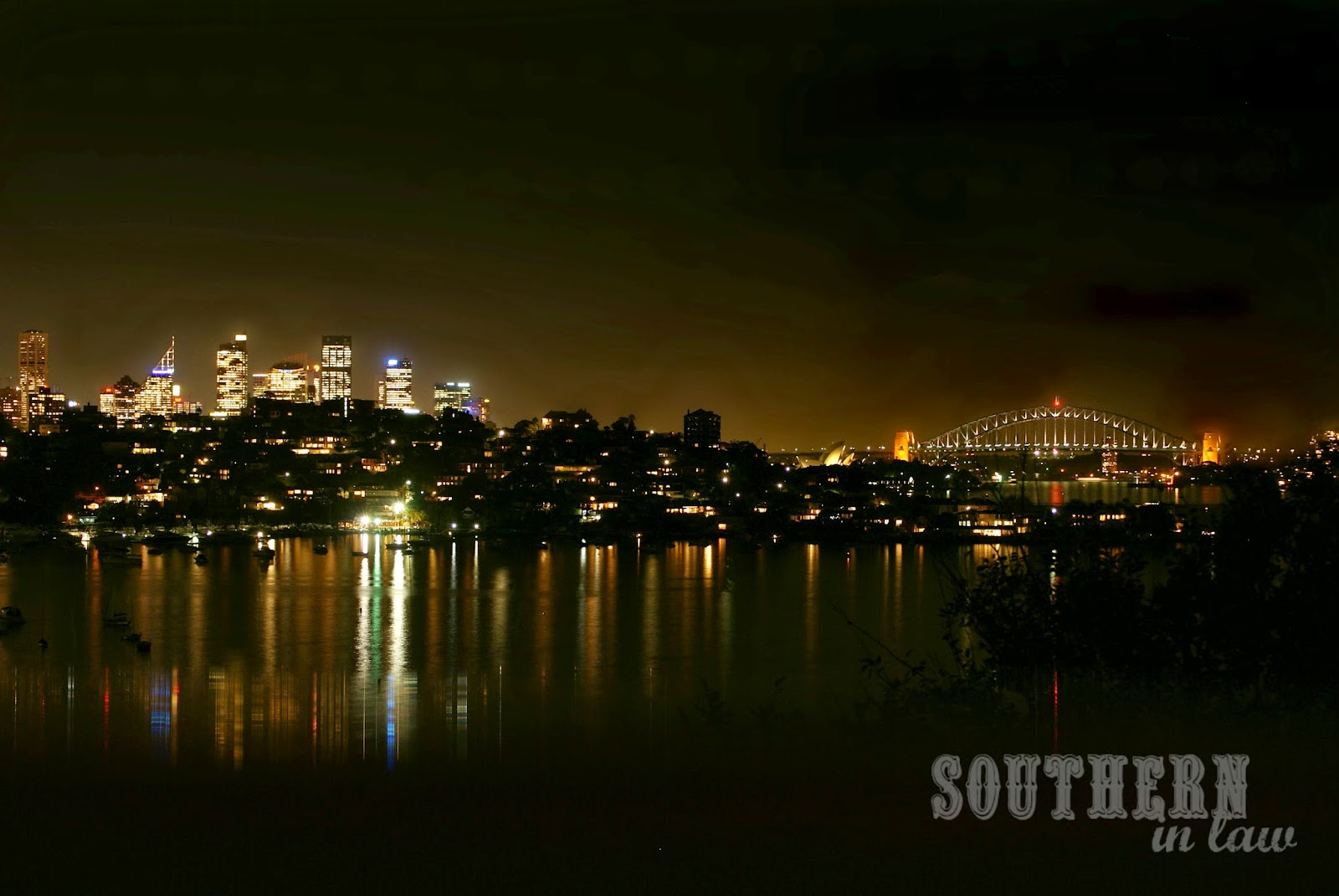 Sydney City Skyline at Night - Sydney Harbour Australia at Night