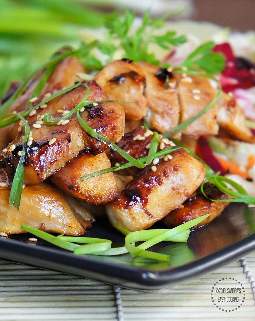 SANDRA'S EASY COOKING: Honey-Teriyaki Glazed Grilled Chicken
