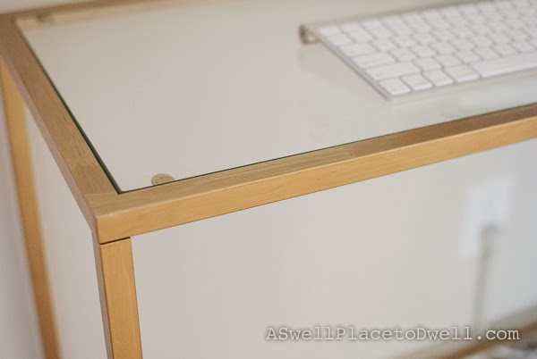 Ikea Vittsjo Laptop Table Hack #Ikea #gold