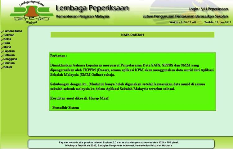 sistem sppbs online do you think our sistem pentaksiran sppbs will get