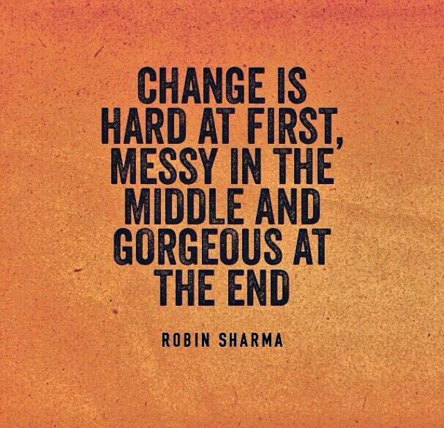 Change for the sake of change is meaningless essay