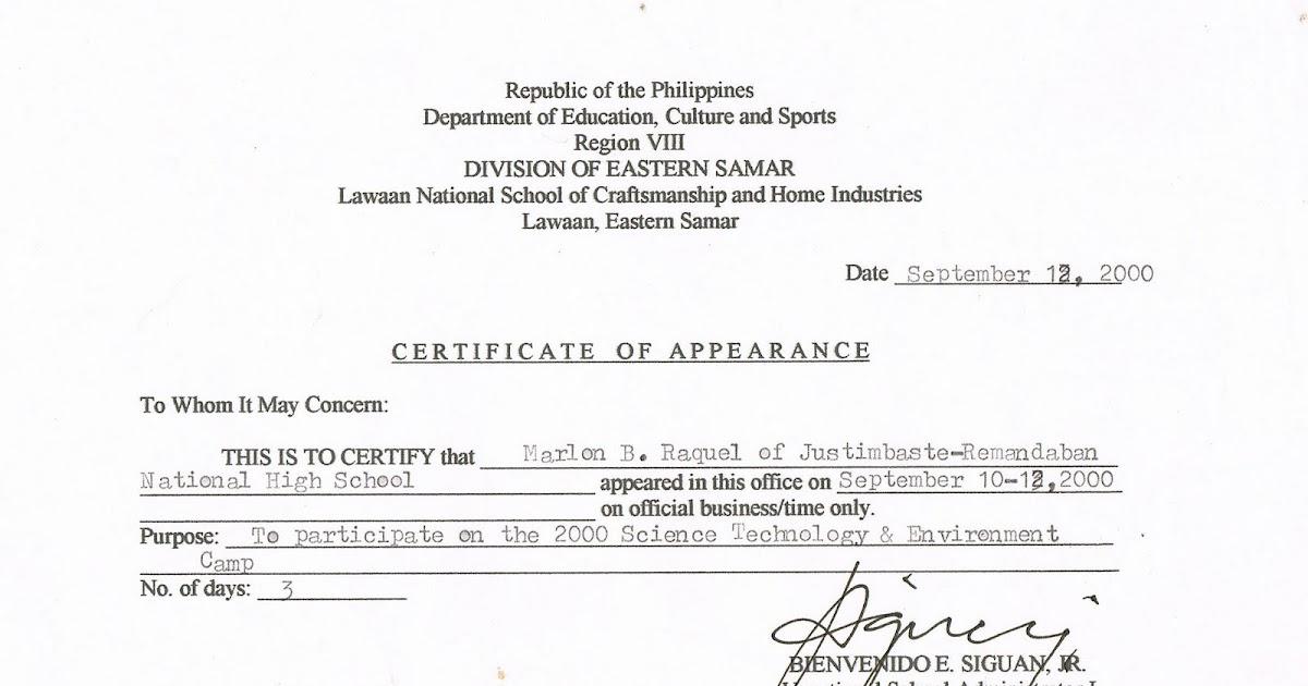 certificate of appearance template tidbits and bytes example of certificate of appearance