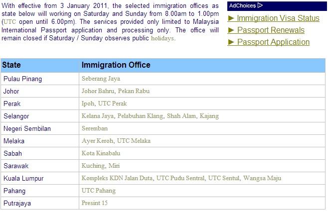 Shah Alam Immigration Office Passport Com My