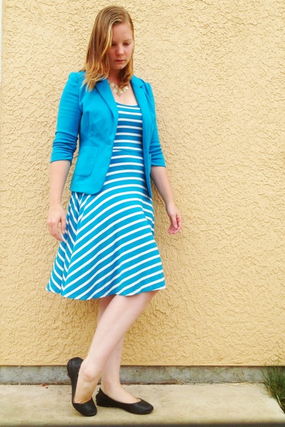 One Piece Many Ways: Striped Jersey Knit Dress
