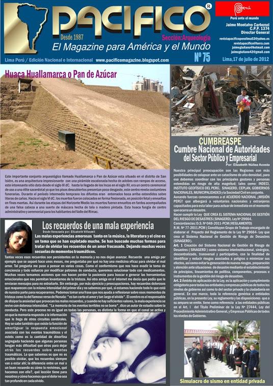 Revista Pacífico Nº 75 Arqueología