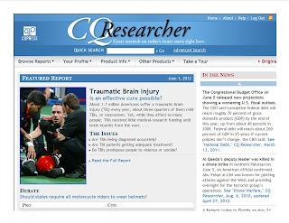 CQ Researcher Web site