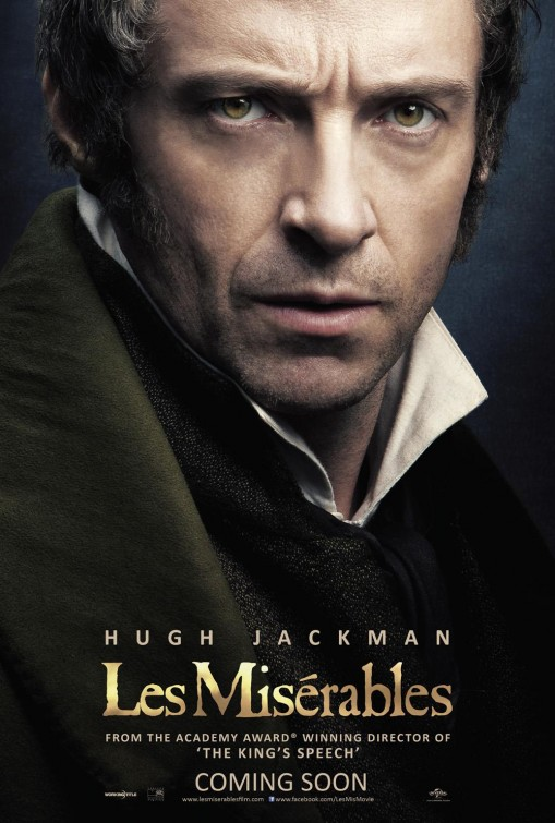 Hugh Jackman Les Miserables movie poster