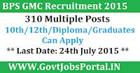 BPS GMC Recruitment 2015