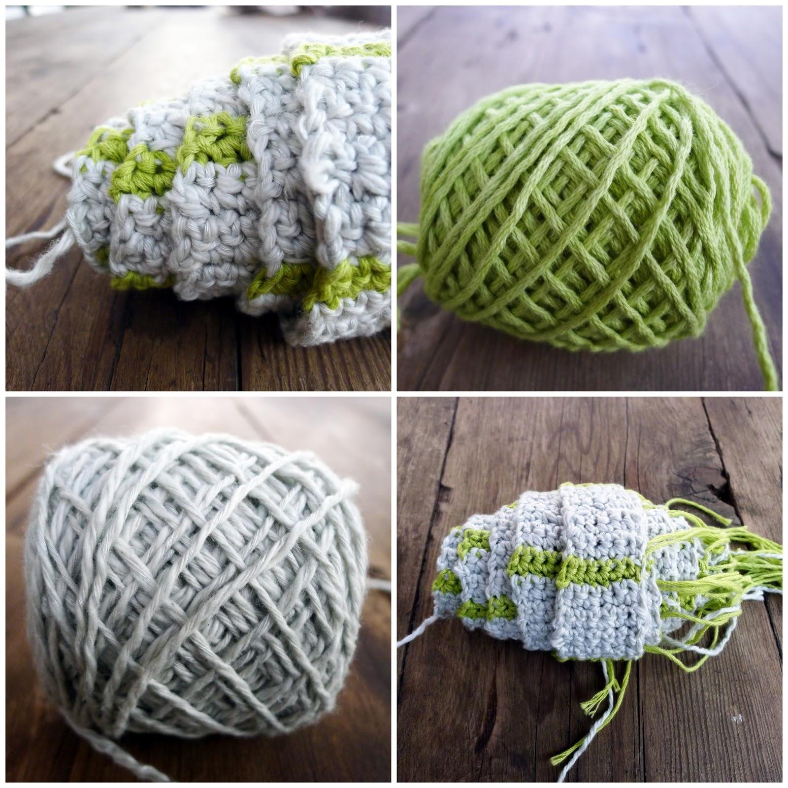 Pigtails Skinny Crochet Baktus Scarf