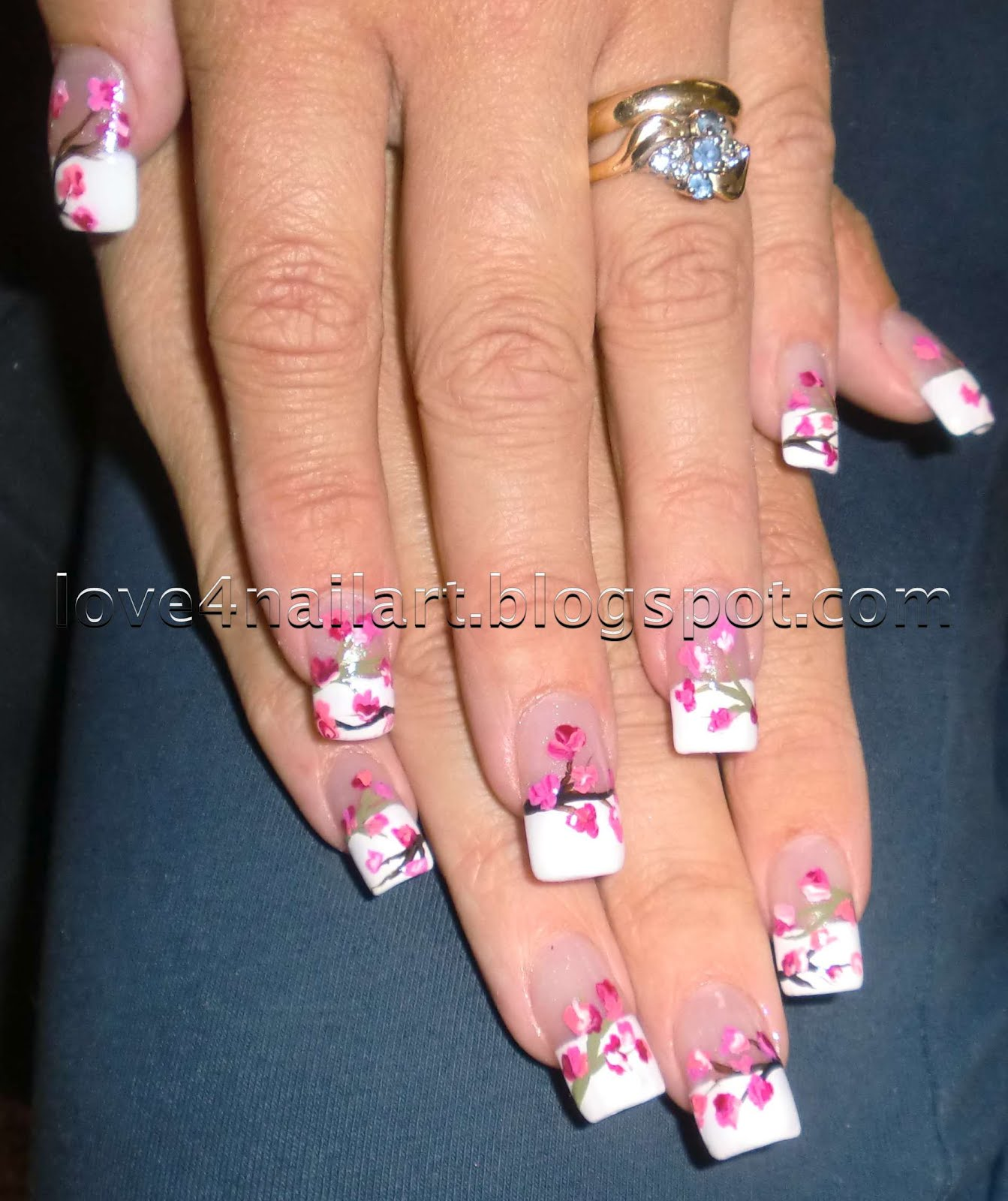 Blossoming Fl Nail Art