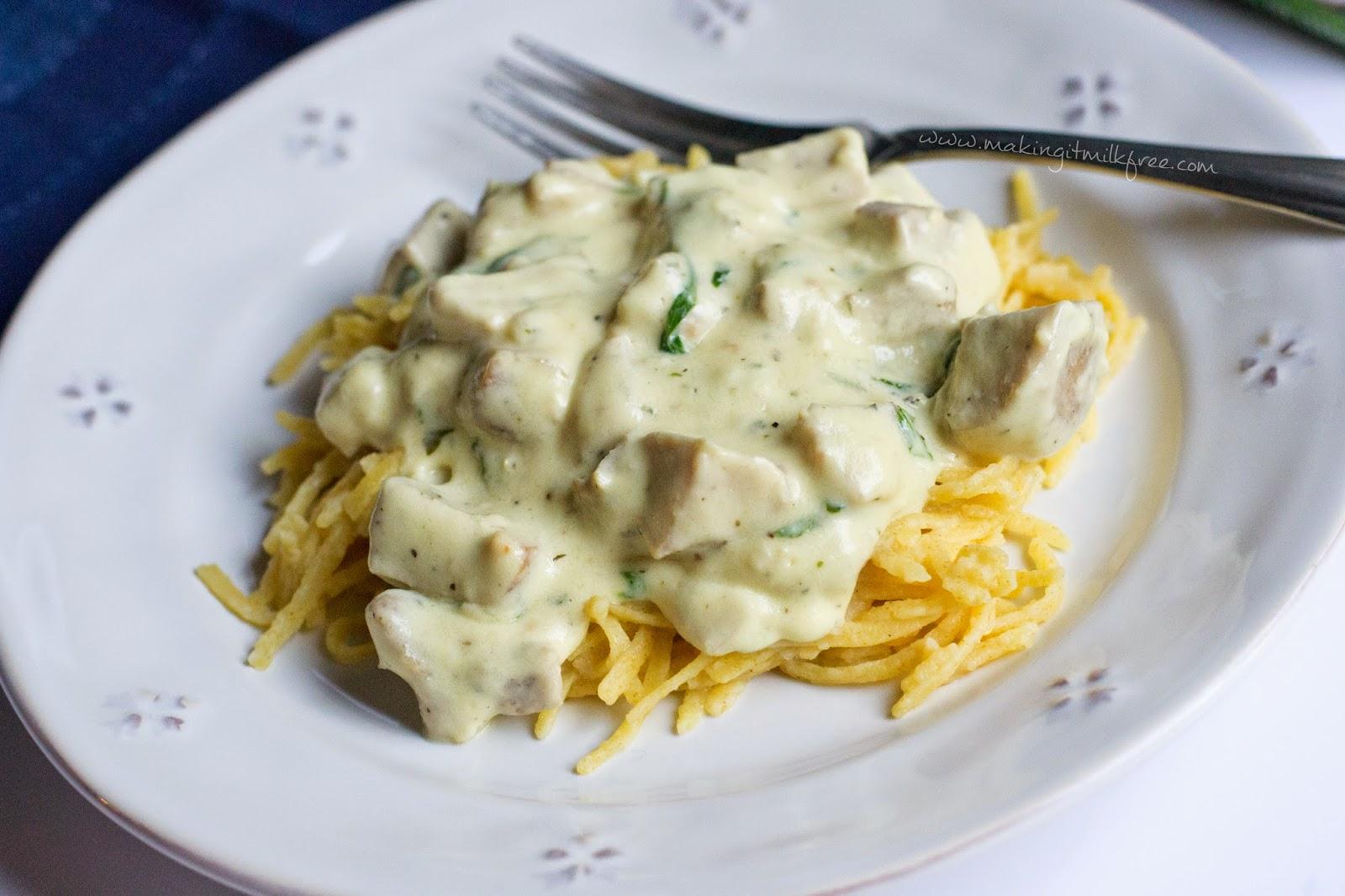 #dairyfree #glutenfree #chicken #alfredo #pasta