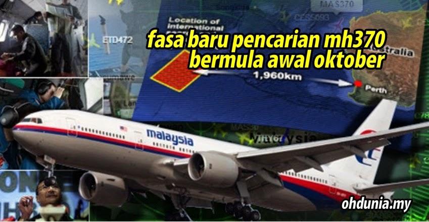 Fasa Baru Usaha Mencari Pesawat MH370 Bermula Awal Oktober Ini
