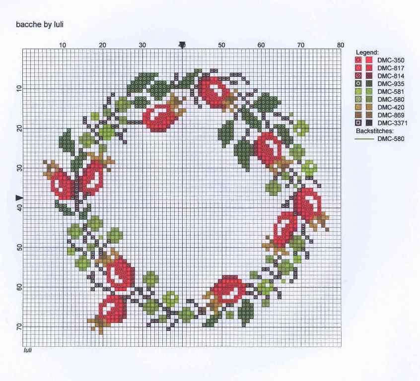 Wreath cross stitch patterns - Sticken vorlagen kostenlos ...