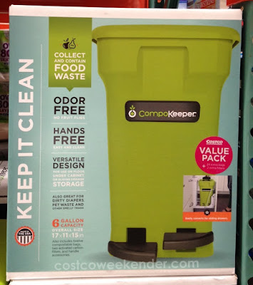 Help the environment and go green with the Keep In Clean CompoKeeper Food Waste Bin