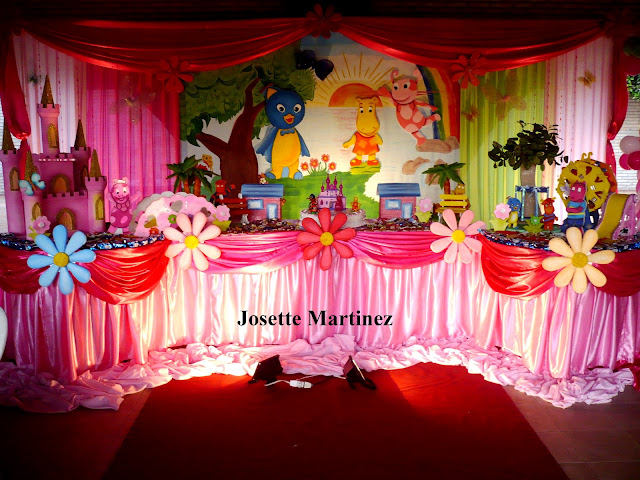 Decoracion backyardigans party decoracion en fiestas - Decoracion mesas infantiles ...