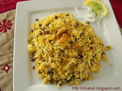 masoor pulao, Indian pulao recipe, Basmati pulav, pulao rice, lentil pulao, lentil rice