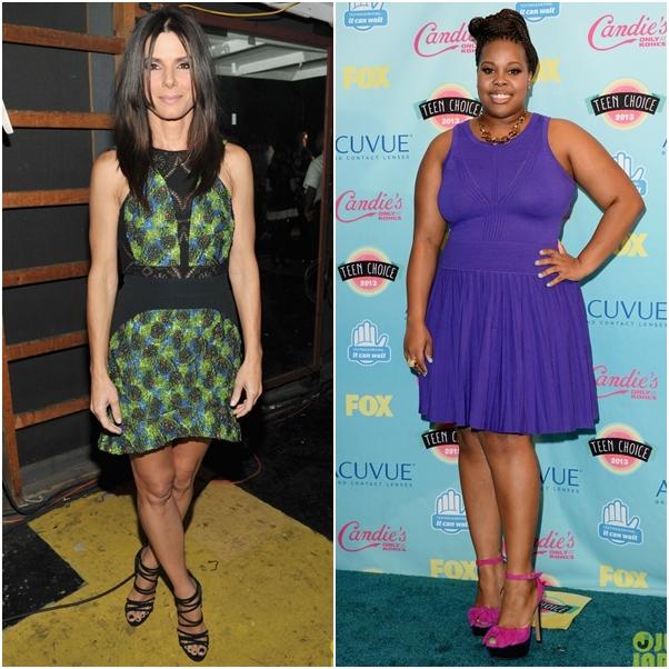 Look Sandra Bullock Amber Riley Teen Choice Awards 2013