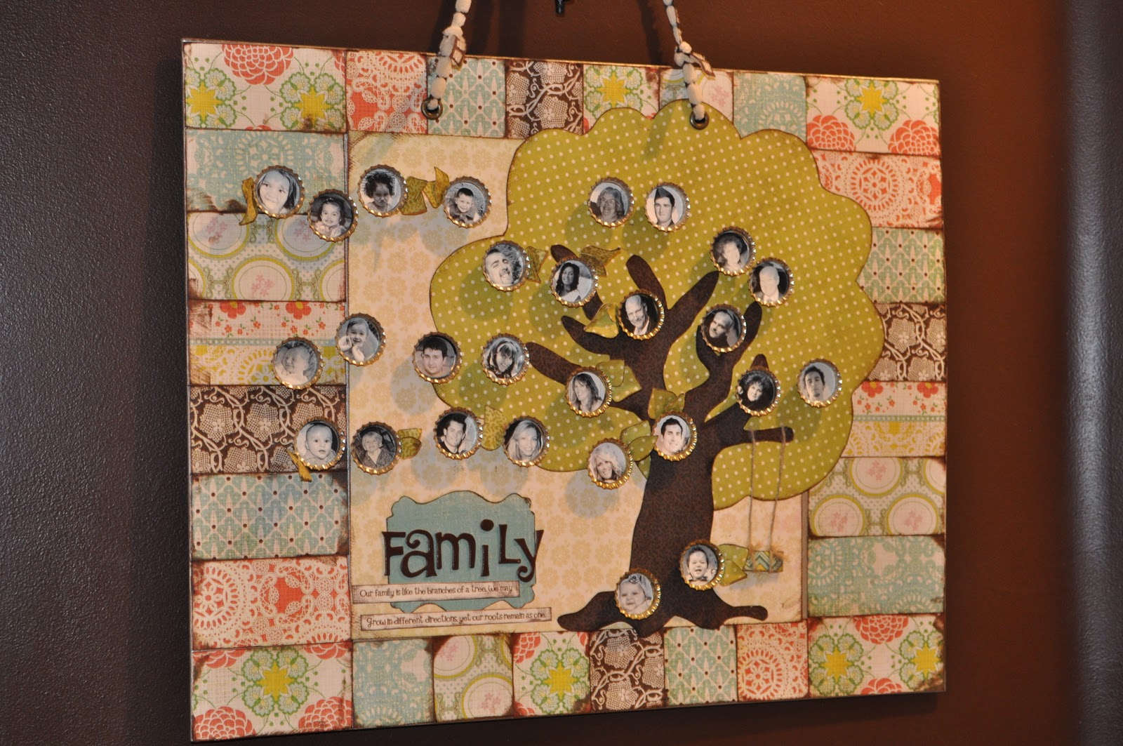 Magnetic craft board - This Is My Board And My Lovely Family This One Is 16 X20 The Paper Is Just Mod Podged On To The Magnet Board I Used E6000 To Adhere The Bottle Caps To