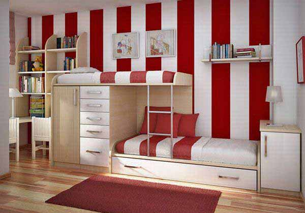Tempat Tidur Tingkat Untuk Kamar Tidur Anak Laki Laki Dan Perempuan ...