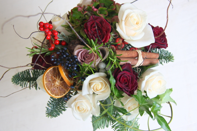 The Flower Magician Mulled Wine Christmas Wedding Bouquet