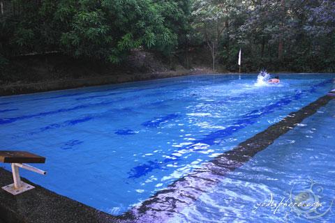 Main swimming pool in Calawagan Resort