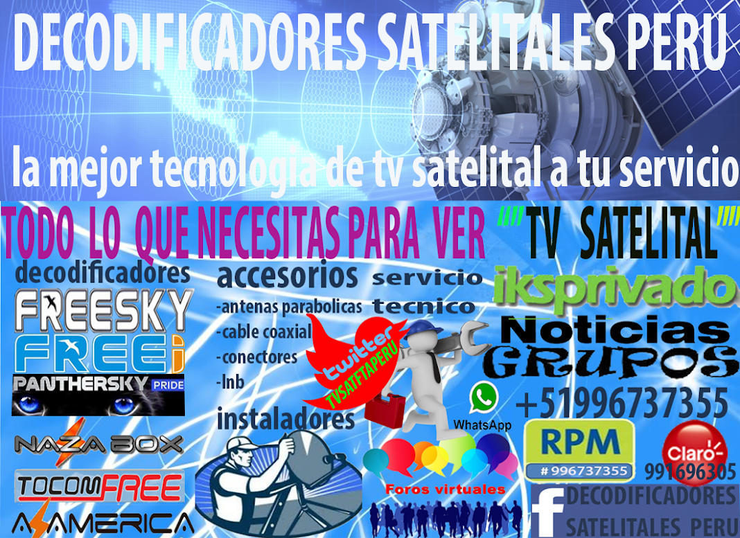decodificadores  satelitales  peru
