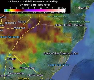 GRAVES INUNDACIONES EN BRASIL Y URUGUAY