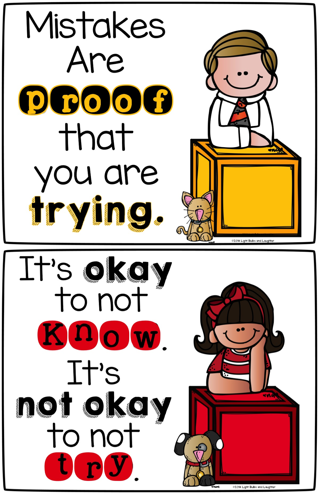 FREE posters for elementary teachers - Light Bulbs and Laughter Blog