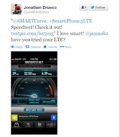Smart LTE in Katipunan Avenue, QC