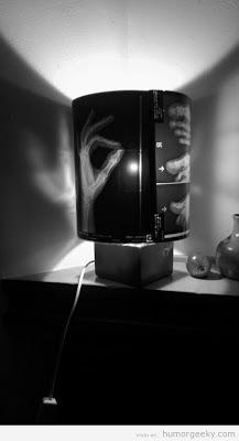 Manualidad de lámpara reciclada con radiografía
