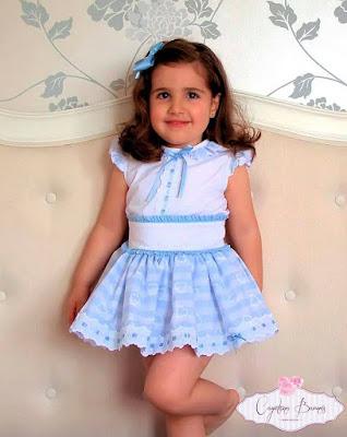 conjunto falda y blusa niña