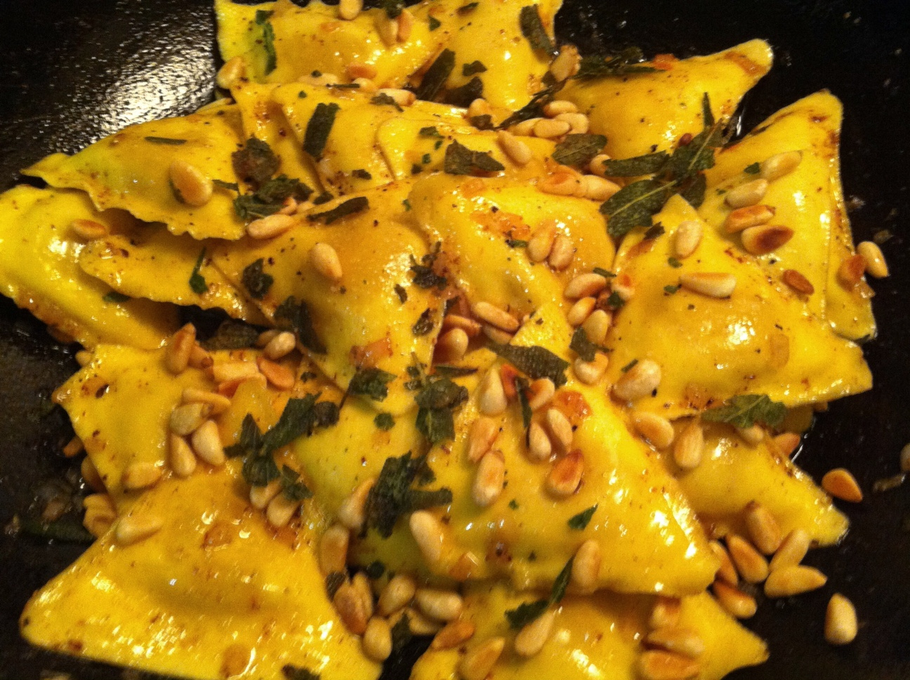 Eat me love me butternut squash ravioli in sage brown for What to serve with butternut squash ravioli