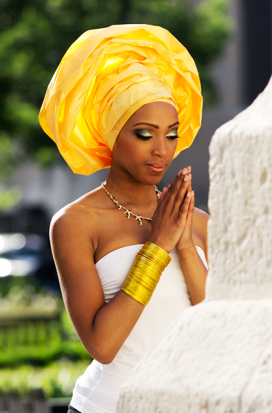 Be inspired you can also use gele for your kitchen party wedding