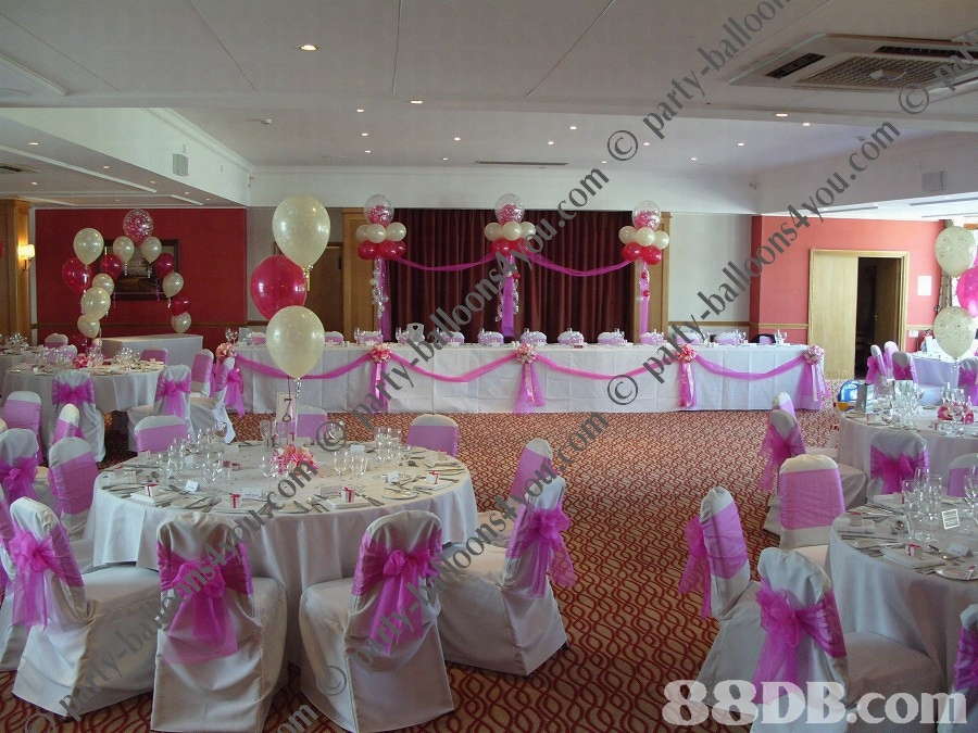 Wedding events hall decoration - Decoracion de hall ...