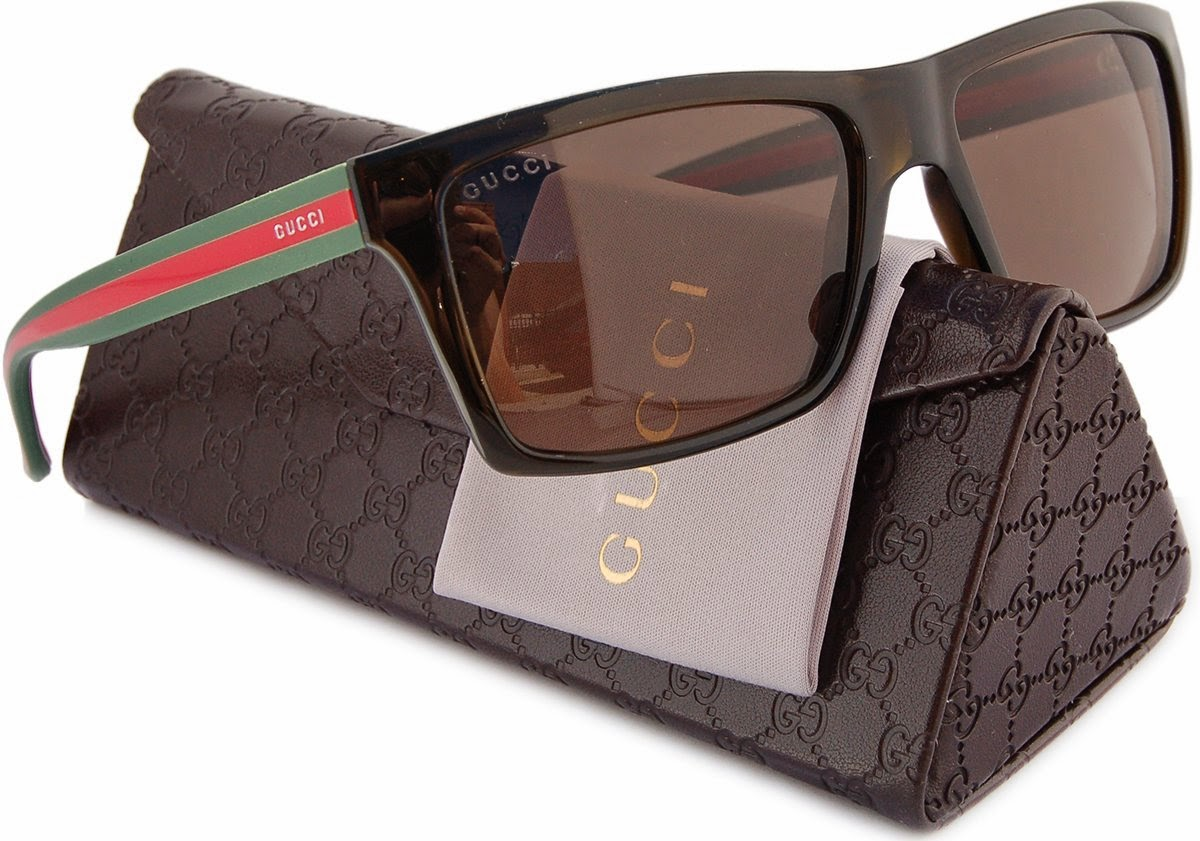 8078e16a6a4 GUCCI GG1013 S Men Polarized Sunglasses Brown (053U) 1013 S 53U SP 56mm  Authentic