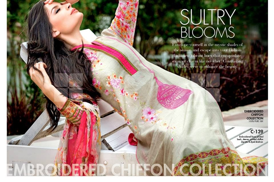 GulAhmedNewCollection wwwfashionhuntworldblogspot 1  - Gul Ahmed Summer Dresses Collection 2014-2015