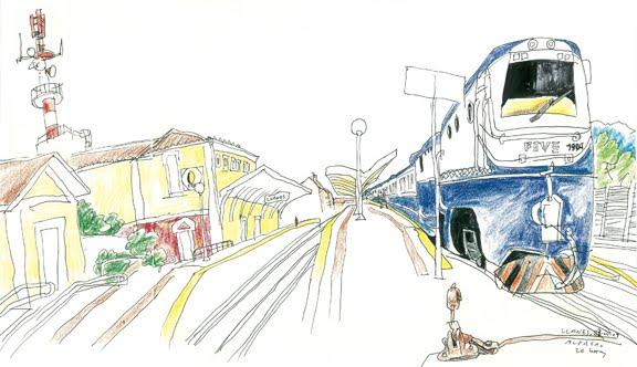 ALFREDO>Estación de Llanes DIBUJANDO EL TRANSCANTÁBRICO