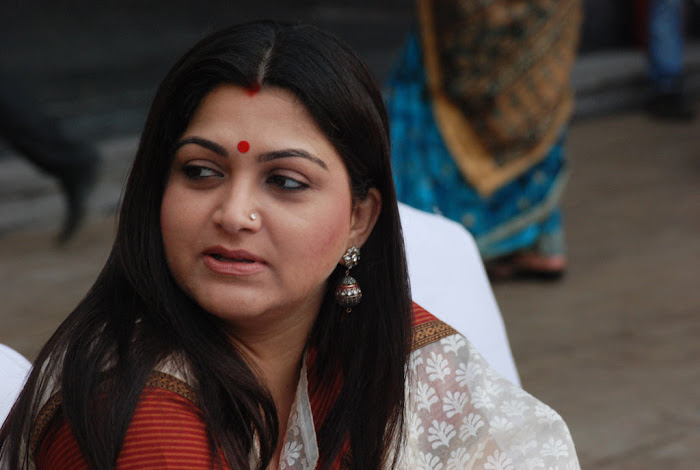 kushboo in saree at big fm et awards hot photoshoot