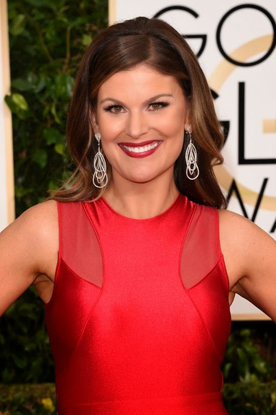 It's first big event of red carpet on the New Year's Eve period and Kristin Dos Santos was on there.  The 39-year-old made sure that she got plenty of attention as she graced the 72nd Annual Golden Globe Awards at Beverly Hills, CA, USA on Sunday, January 11, 2015.