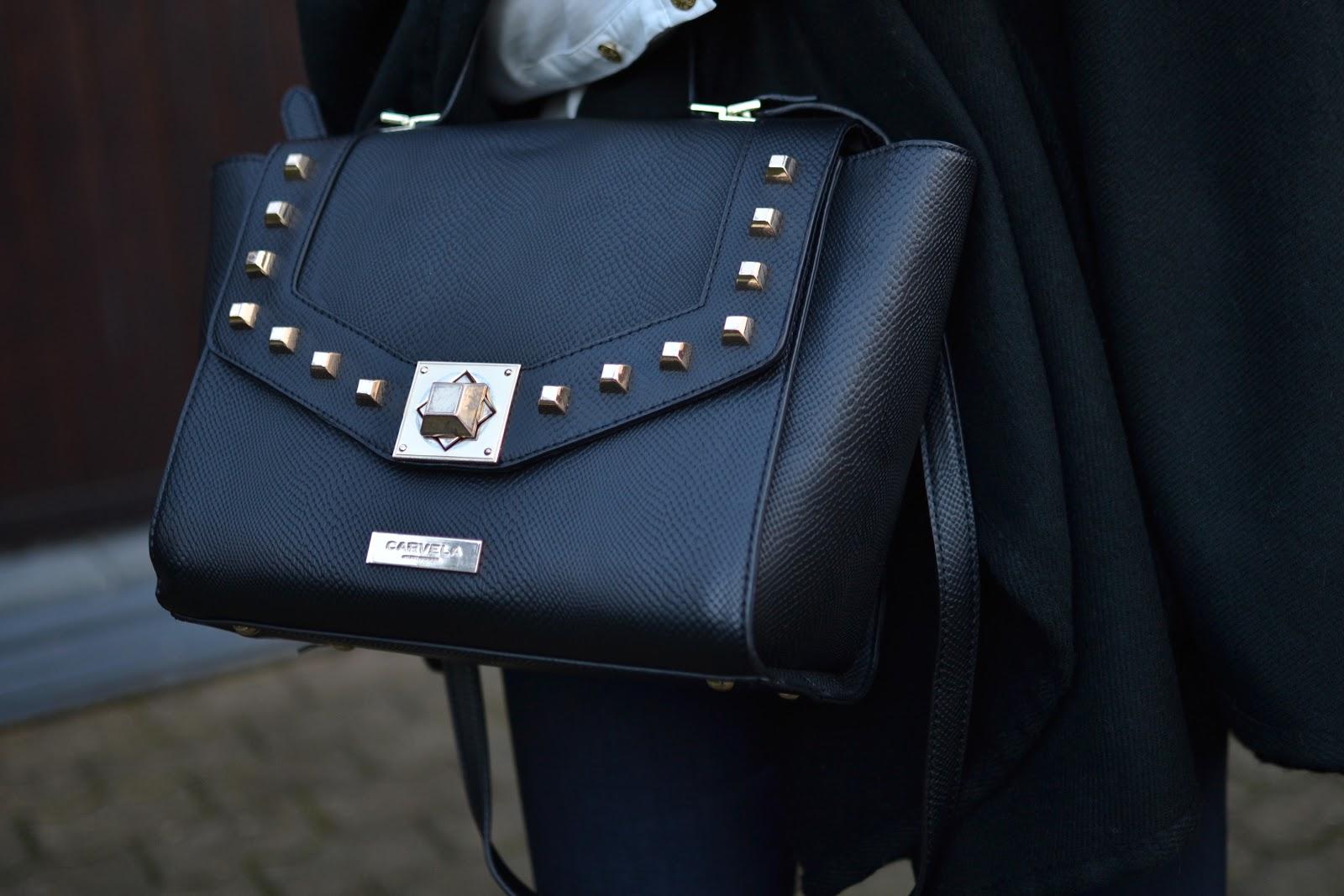 Kurt Geiger Carvela Angelika black studded bag