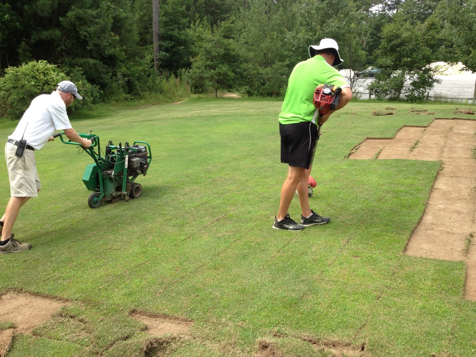 from the nursery green  We also realized that the 2 000 square foot  green was not large enough for our golf course needs so we expanded the  area to. The Bear Trace at Harrison Bay Golf Course Maintenance  Chipping