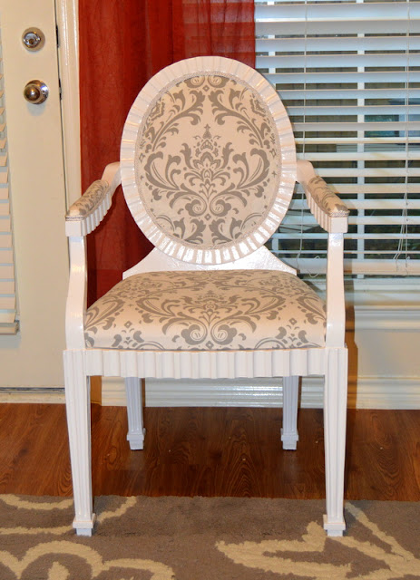 Reupholstered Armchair After